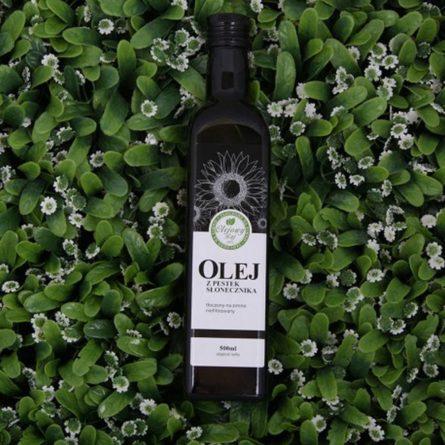 Olej z ziaren słonecznika tłoczony na zimno 500 ml